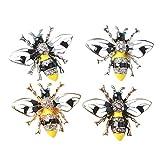 HUAI Abeja forma de aleación de cristal esmaltado para hacer constats, bolsos, zapatos, accesorios para el cabello, decoración