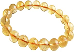 DHYANARSH 100% Original and Laboratory Certified Citrine Stone Bracelet for Men and Women Unisex