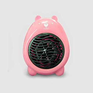 ANKIKI 400W Mini Calefactor,Ahorro Energía Portátil Ventilador Calefactor,Protección Sobrecalentamiento Y Antivuelco,3S Calentamiento Rápido,Sala Estar Dormitorio Oficina Mesa Uso,Rosado