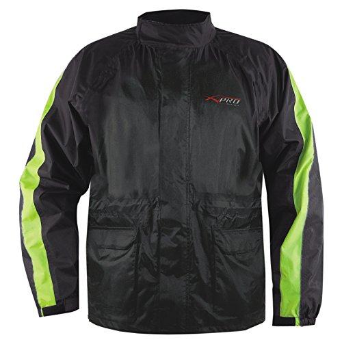 A-Pro Regen Jacke Wasserdicht ueber Jacke Motorrad Roller Sichtbarkeit Gelb Fluo L