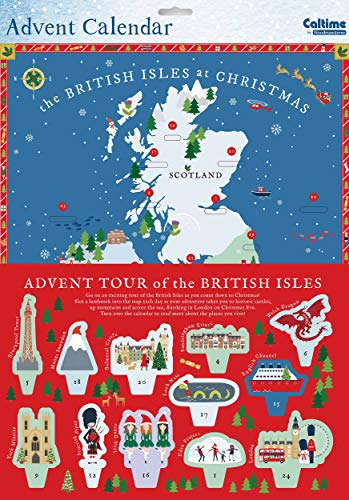 Caltime Ltd 3D Karte Adventskalender - Tour of The British Isles 352 x 420 mm groß mit Tabs