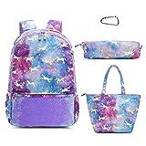 Backpack for girls Cute School backpack Set 4PC Book Bag for Elementary Kid