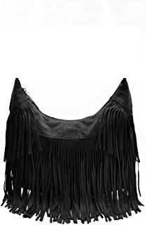 Women Crossbody Hippie Purse Fringe Tassel Messenger Bag Hobo Shoulder Handbag Satchel