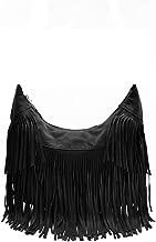 Yoome Women Crossbody Hippie Purse Fringe Tassel Messenger Bag Hobo Shoulder Handbag Satchel