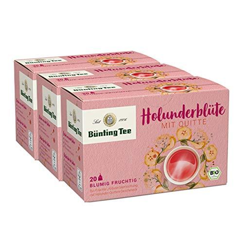 Bünting Tee Bio Holunderblüte mit Quitte, 3er Pack