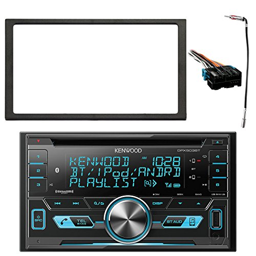Kenwood 2-DIN Bluetooth CD AM/FM USB Car Audio Receiver, Enrock Double DIN Install Dash Kit, Metra Radio Wiring Harness, Enrock Antenna Adapter (Select 1994-2005 Vehicles)