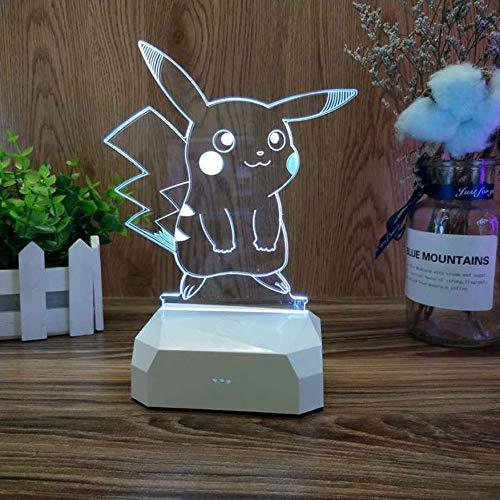 YHEB Lampe de Table 3D, Cadeau/Dessin animé/veilleuse/Lampe de lit/Chambre à Coucher, Cadeau d'anniversaire LED-9