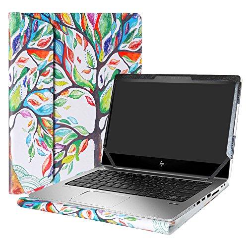 Alapmk Diseñado Especialmente La Funda Protectora de Cuero de PU para 13.3' HP EliteBook 830 G5 G6/EliteBook 735 G5 G6 & HP ProBook 430 G6 Laptop(Not fit EliteBook 830 G4/G3),Love Tree
