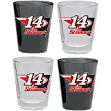 HUNTER NASCAR Tony Stewart Shot Glass Collector Set (4-Piece), 2-Ounce, Clear