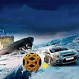 InLoveArts 6Catene da Neve Catene universali per Pneumatici Auto, Catena di Sicurezza per Guida Invernale,Sicurezza per Pneumatici Invernali Adatta Pneumatici Larghezza 165mm-285mm (Giallo)