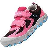 Mishansha Kinderschuhe Trekking Wanderschuhe rutschfest Hallenschuhe Mädchen Walking Schuhe Freizeit Turnschuhe Pink 31 EU
