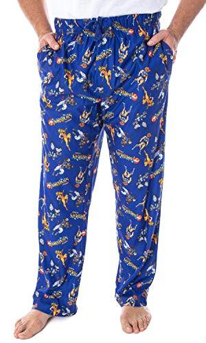 Thundercats Men's Lion-O Cheetara Panthro Tygra Classic Cartoon Character Adult Sleep Lounge Pajama Pants (MD)