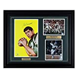 Joe Namath Signed 26x32 Framed/Matted Rookie Card Photo Display SOP JSA COA. rookie card picture