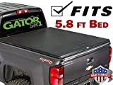 Gator SR1 Roll-Up (fits) 2014-2018 Chevy Silverado GMC Sierra 5.8 FT Bed Only Soft Roll Up Tonneau Truck Bed Cover (55108) Made in the USA (Includes 2019 1500 Classic Models)