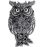 Robot Owl Waterproof Temporary Tattoos Men Sticker machine Fake Tattoo Body Arts Flash tattoo tatoo sleeve tatuajes