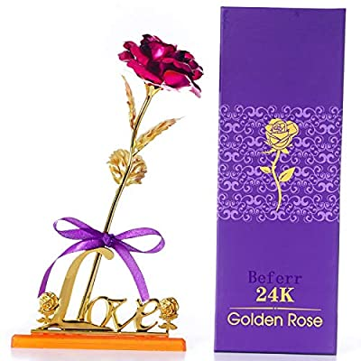 24K Gold Rose for Girlfriend for Wife on The Va...