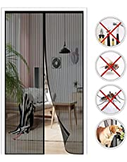 Magnetische Hordeur, 180x200cm (70.86x78.74in) Magnetisch Vliegengaas Horgordijn,Magneten van Boven Tot Onderafdichting Sluit Automatisch,Bugs Buiten Houden,Houdt Frisse Lucht Binnen -Zwart-a
