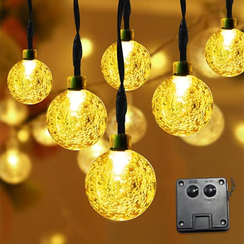 Zueyen Cadena de luces solar de 23 metros, 50 luces LED, 8...