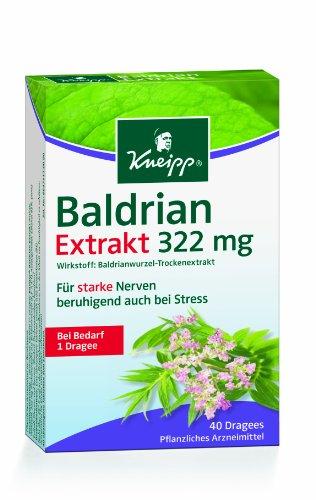 Kneipp Baldrian Extrakt, Extra Stark, 40 Dragees
