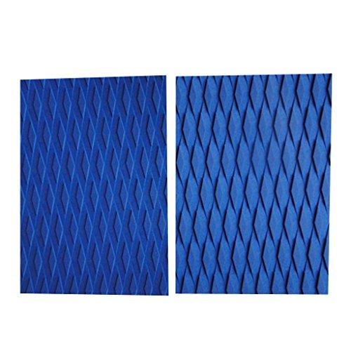 Paquete de 2pcs Almohadillas de Tracción de Tablas de Surf Almohadillas de Tablas de Kitesurf - Azul