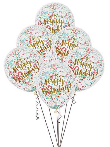 Foil Glitzy Rainbow Happy Birthday Latex-Ballons 12