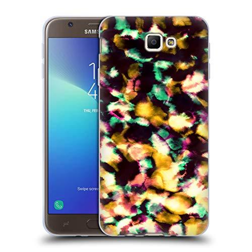 Head Case Designs Offizielle Amy Sia Orange EIS Soft Gel Huelle kompatibel mit Samsung Galaxy J7 Prime 2 2018