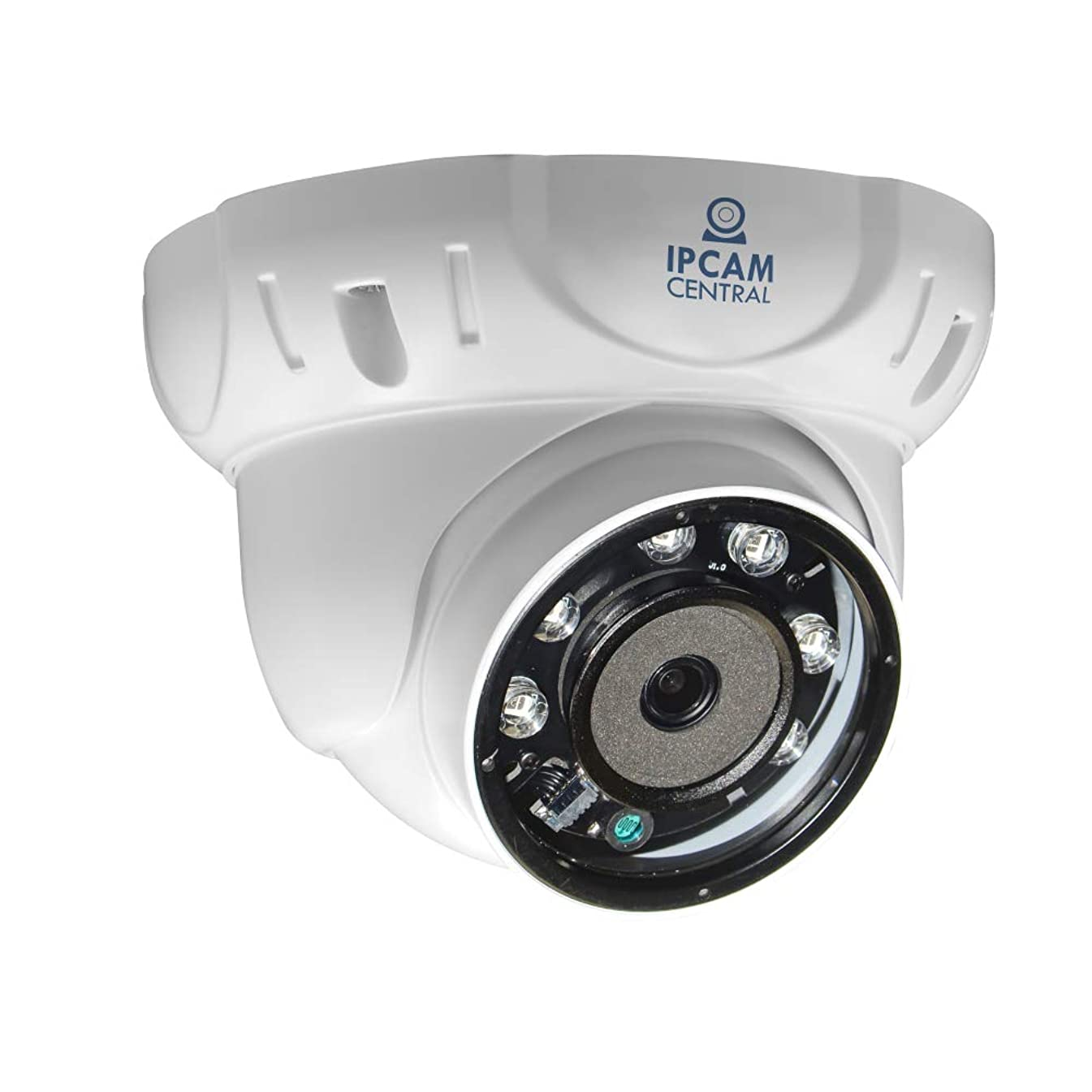 IPCC-4004E - 4X Optical Zoom (2.8-12mm), AutoFocus, UHD 5.0 Mega Pixel, IP65 Metal, POE MiniDome Camera with 60ft Ir Nightvision,ONVIF, Compatible with Synology, Blueiris- Color White