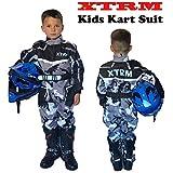 Kinder Kart Anzug XTRM Motorrad Quad Off-Road Suit Kinder Cross Sports Rennanzug für Motocross, Dirt Bike MX ATV PITBIKE Kart Motorroller Overall (Camo Grau,M)