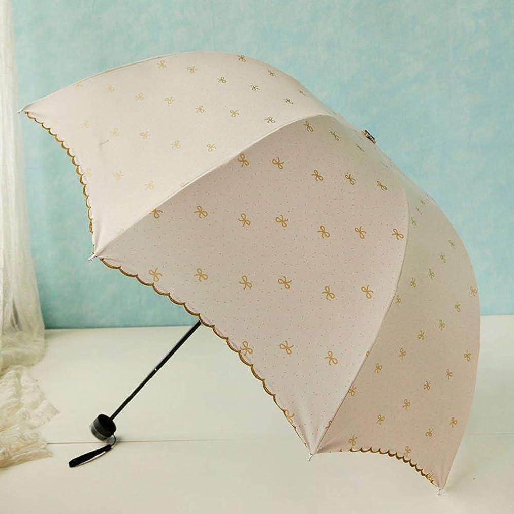 正当な小包ワットKomori 日傘 折り畳み傘 晴雨兼用 UVカット 8本骨 100%遮光 紫外線対策 抗風 簡単に水を弾く 小型 携帯便利 軽量 おしゃれ プレゼント捆包 専用の収納袋付き (ホワイト)