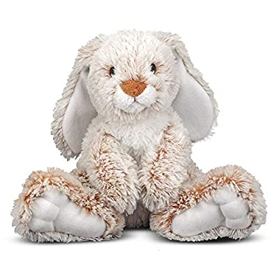 """Melissa & Doug Burrow Bunny Rabbit Stuffed Animal (Plush Toy, Washable Surface, Soft Fabric , 9"""" H x 10"""" L x 6"""" W, Great Gift for Girls and Boys - Best for Babies and Toddlers, All Ages)"""