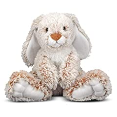 Melissa & Doug CUDDLY BUNNY RABBIT STUFFED ANIMAL: The Melissa & Doug Burrow Bunny Rabbit Stuffed Animal features long floppy ears with extra-soft plush fur and realistic-looking features HANDCRAFTED WITH CARE: This plush bunny stuffed animal toy has...