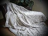 Natur-Fell-Shop XXL Kuscheldecke Tagesdecke Decke Silber - grau 200x240cm