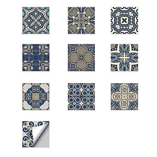 ZSFBIAO Papel Pintado para baño y Cocina Autoadhesivo Azulejos Adhesivos Baldosas de Adhesivo Decorativo para Decoración para El Hogar de Bricolaje (Size: 10CM*10CM*10PCS,Color:3 Set)