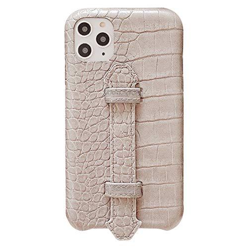 Suhctup Coque Compatible pour iPhone 11 Rétro PU Cuir Cover Housse avec Fonction de Support [ 3D Emboss Crocodile Motif Texture Leather ] Ultra Fine Anti Choc Back Cover(Gris)