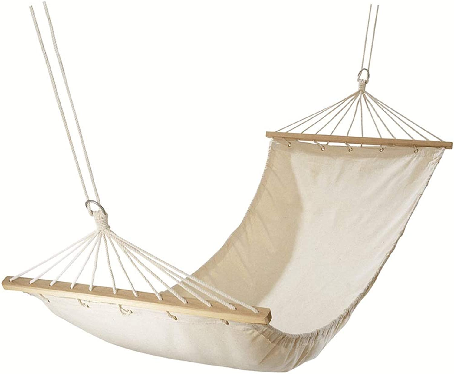 White Single Hammock Storage Bag (Cotton Canvas), Easy to Carry, Suitable for Beach Picnic Barbecue Indoor, Bearing 120kg, 200x80cm