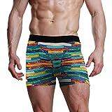 Ropa Interior Calzoncillos bóxer Pantalones Cortos de Madera Coloridos Pierna Regalo Low Rise S-XL Hombre