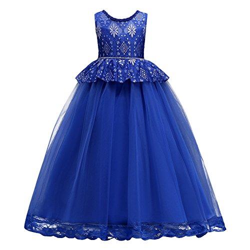 OBEEII Vestido Elegante de Niña Vestidos Largos de Encaje Ropa Verano Disfraz...