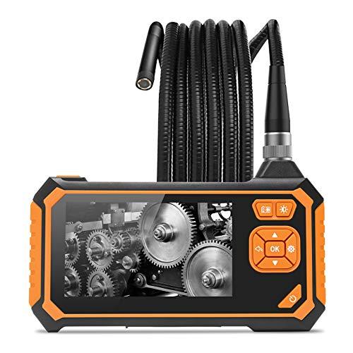 Wisamic 3M Industrie Endoskop Hand Endoskopkamera Halbsteife Snake Kabel Inspektionskamera 4,3 Zoll LCD 1080P HD Bildschirm Digital Wasserdicht Videoaufnahme Boreskop
