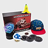 CultureFly Mario Kart Collector's Box | Comes Packed with 6 Exclusive Items: Blue Shell Figurine, Banana Peel Plush, Item Box LED Light, & More