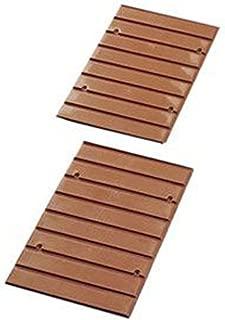 アイリスオーヤマ CBボックス用レールボード ブラウン 奥行25.3×高さ38.7×厚さ0.8cm CXR-27