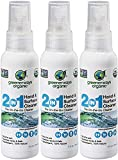 Greenerways Organic Natural All-Purpose Cleaner, Multipurpose Cleaner, USDA Organic Non-GMO Hand Cleaner Travel Size Household Multi-Surface Spray (3-Pack 2oz) MSRP 23.98