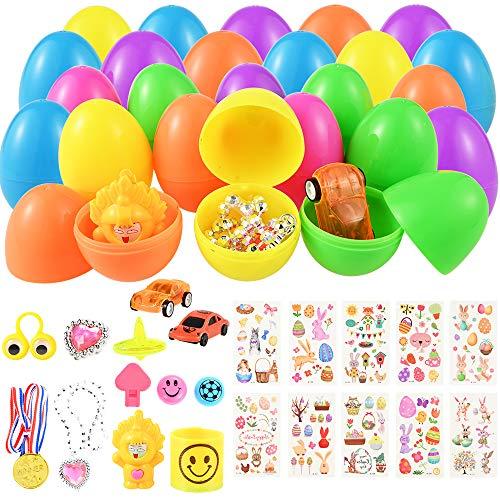Fabur 12 PCS Huevos de Pascua con 12 PCS Mini Regalo de