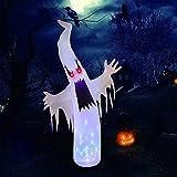 WKLIANGYUANPING Halloween Gonfiabili Decorazioni Ghost Gonfiabile di Halloween all'aperto con caleidoscopio GUIDATO Decorazione dei Puntelli Spaventosi dell'orrore delle luci (Size : EU Plug)