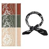 LUTER 4 Pzs 70x70cm Pañuelo de Seda Bandanas de Satén para el Cabello Pañuelos de Pelo Cuadrados Suaves para Mujeres Niñas