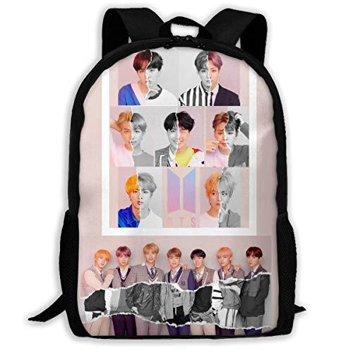 K-POP B-T-S Backpack College Bag Travel Bags Laptop Backpacks Bag Adjustable Shoulder Bag Bookbag Outdoor Sports