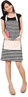 FSK Cotton Canvas Women's Apron with Convenient Pocket Durable Stripe Kitchen and..