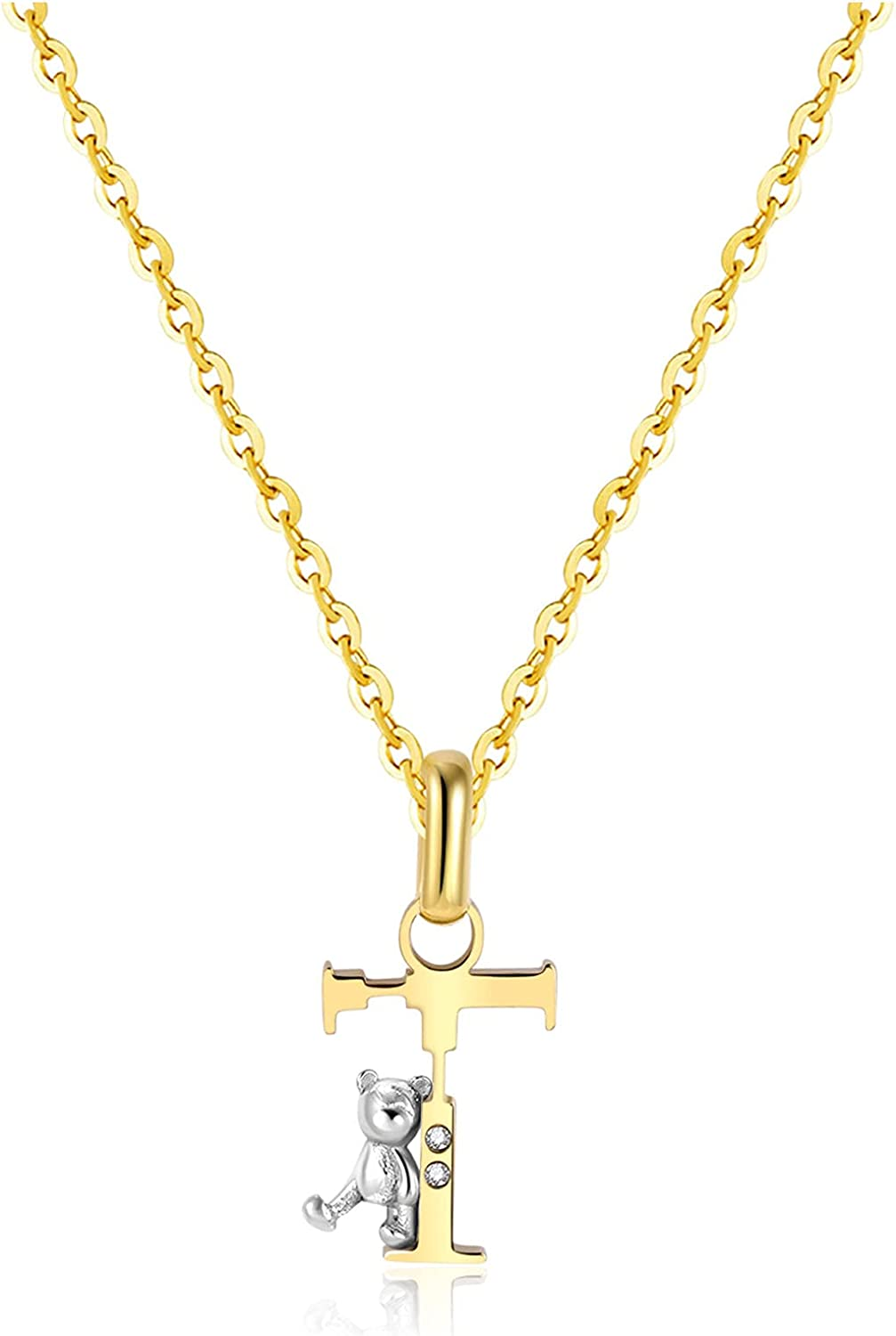 CILILI 18K Gold Filled Initial with Zirconia Seattle Mall Pendant supreme Bear Cubic