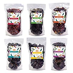 AUTHENTIC FROM MEXICO - 100 % Natural Product Sourced From Farms Throughout Mexico SUPER PACK OF CHILES - Love Chiles? This Super Pack Is All The Most Popular Chiles Together Ancho, Guajillo, Arbol, Chipotle Morita, Pasilla, Cascabel Super Pack Of Al...