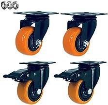 MU 4 x kółka skrętne, kółka transportowe, kółka skrętne, kółka meblowe z hamulcami, łatwe do zainstalowania i wymiany do m...