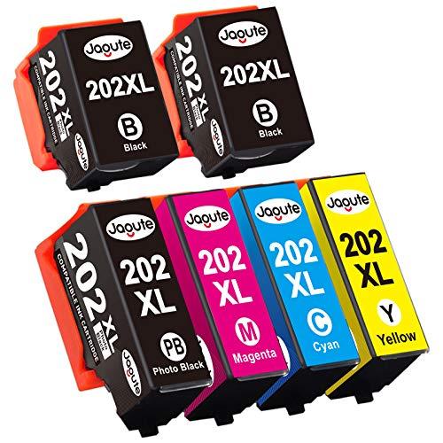 Jagute 202XL Compatible Cartucce d'inchiostro Sostituzione per Epson 202XL 202 per Epson Expression Premium XP-6000 XP-6005 XP-6100 XP-6105 XP6000 XP6005 XP6105 (Pack of 6)